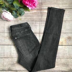 H&M High Waisted Grey Skinny Denim Jeans